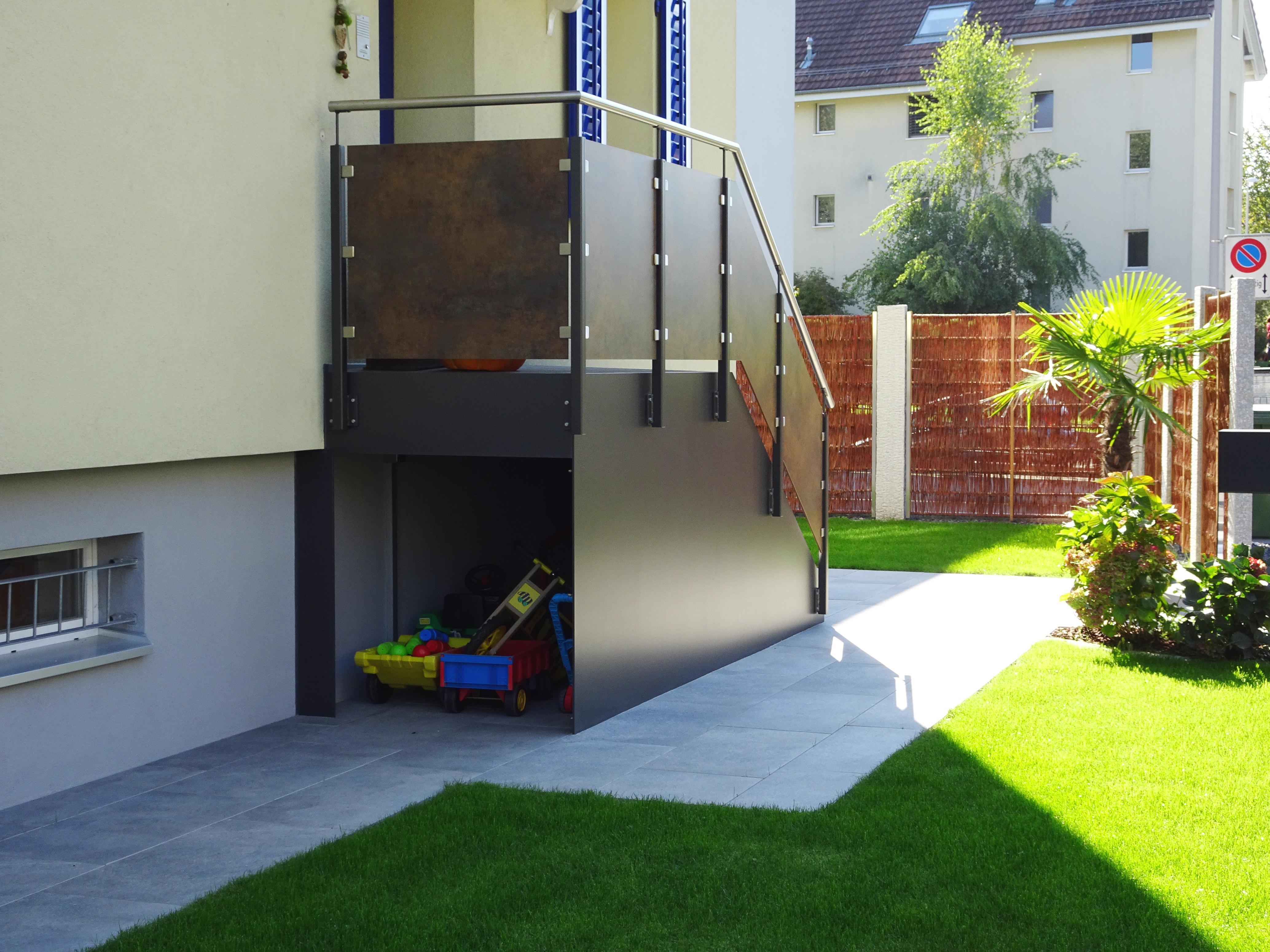Garagenanbau Mit Terrasse : gartengestaltung fischer buess partner architekten ~ Lizthompson.info Haus und Dekorationen