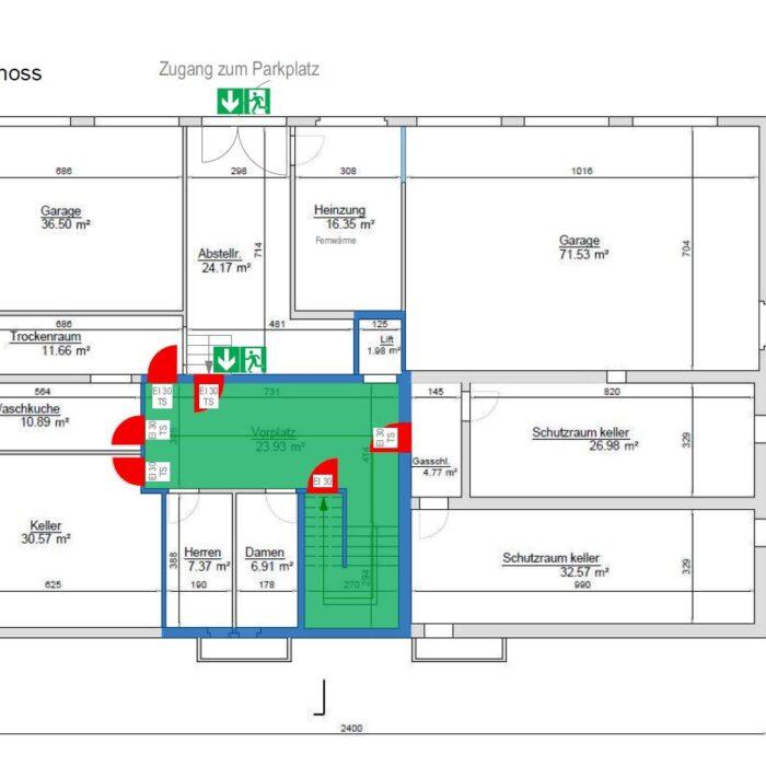 Anpassung Brandschutz Untergeschoss Mehrfamilienhaus, Schwyz